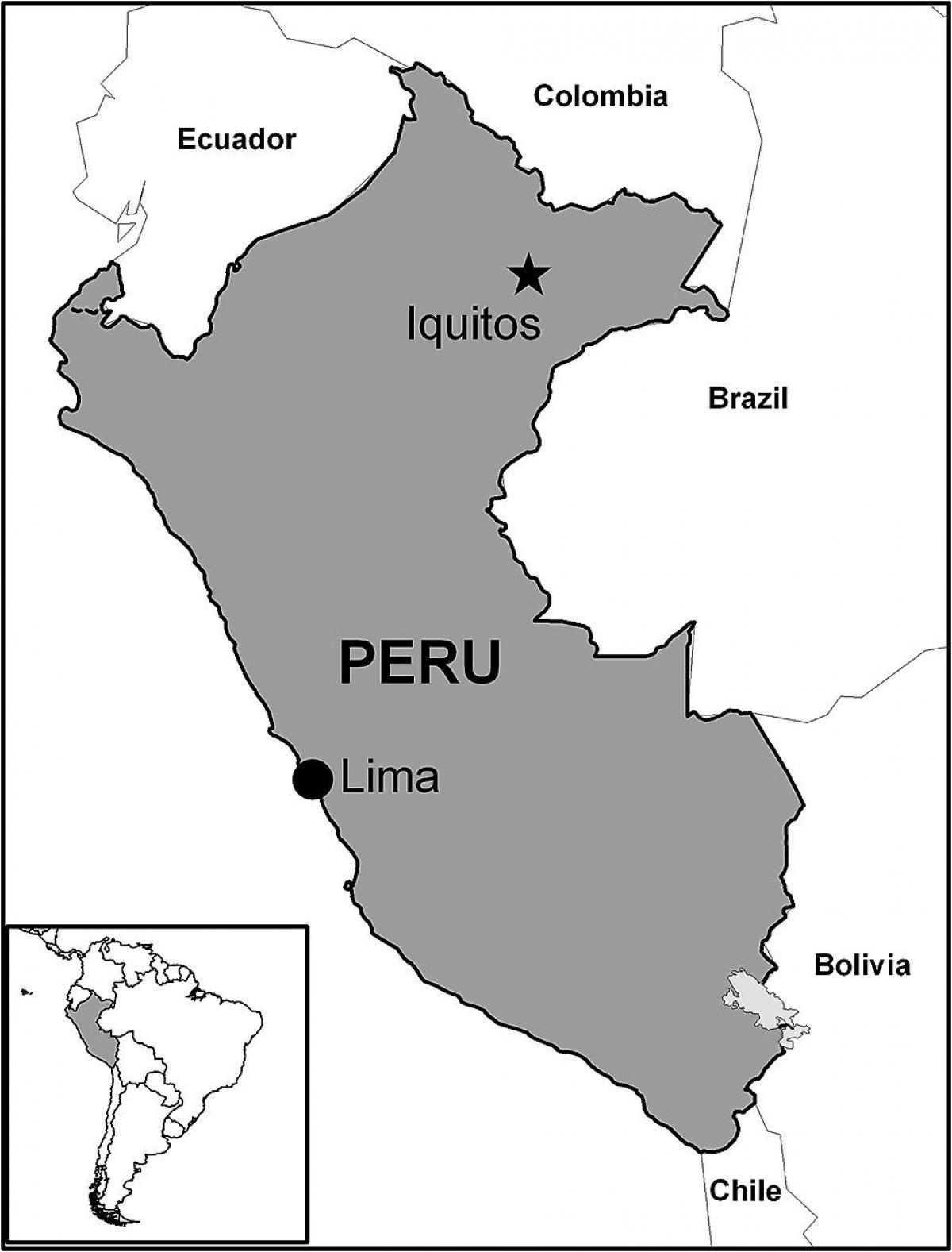 Peru Karte Südamerika.Iquitos Peru Karte Karte Von Iquitos Peru South America