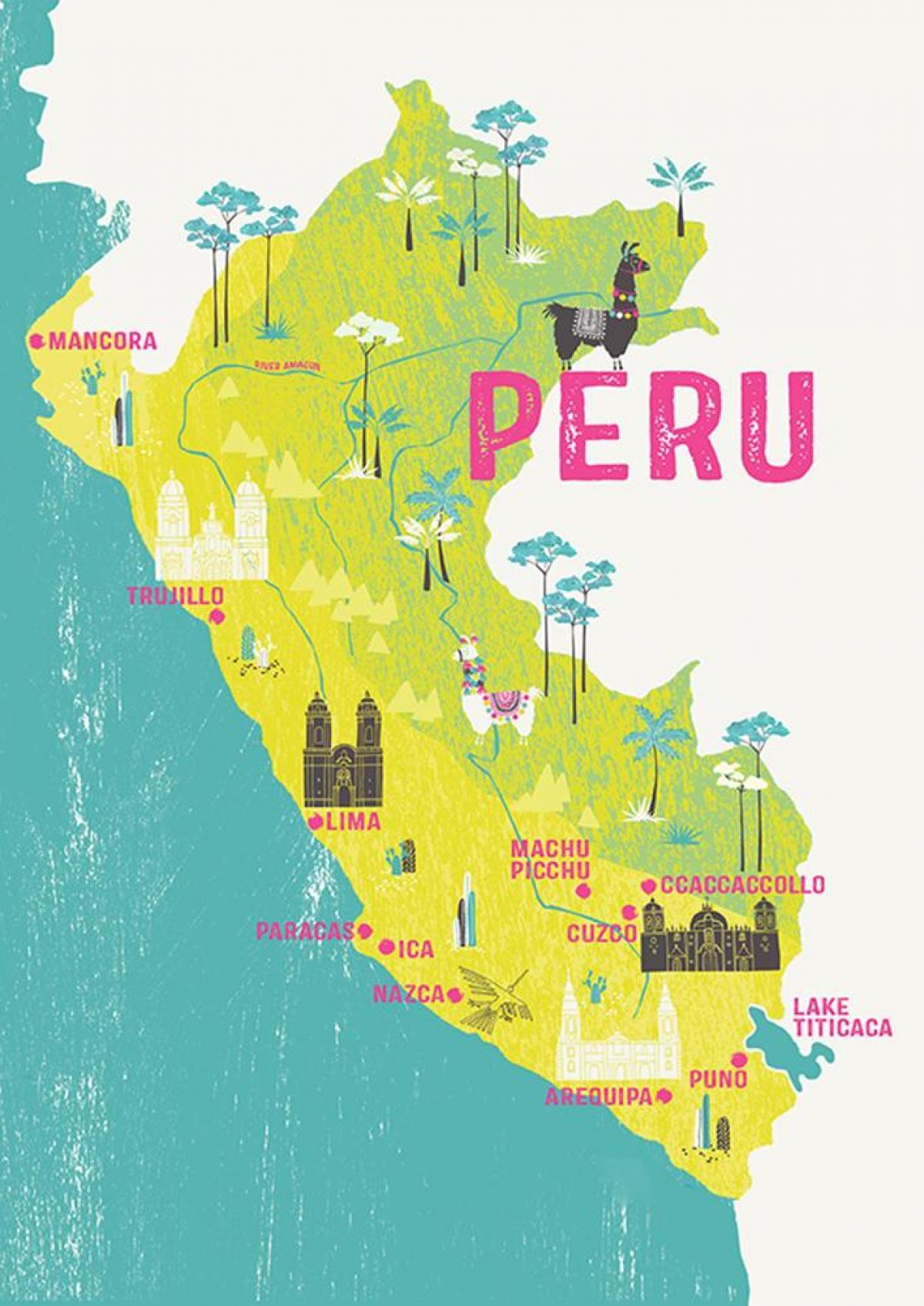 Karte von Peru für Kinder - Karte von Peru für Kinder ...