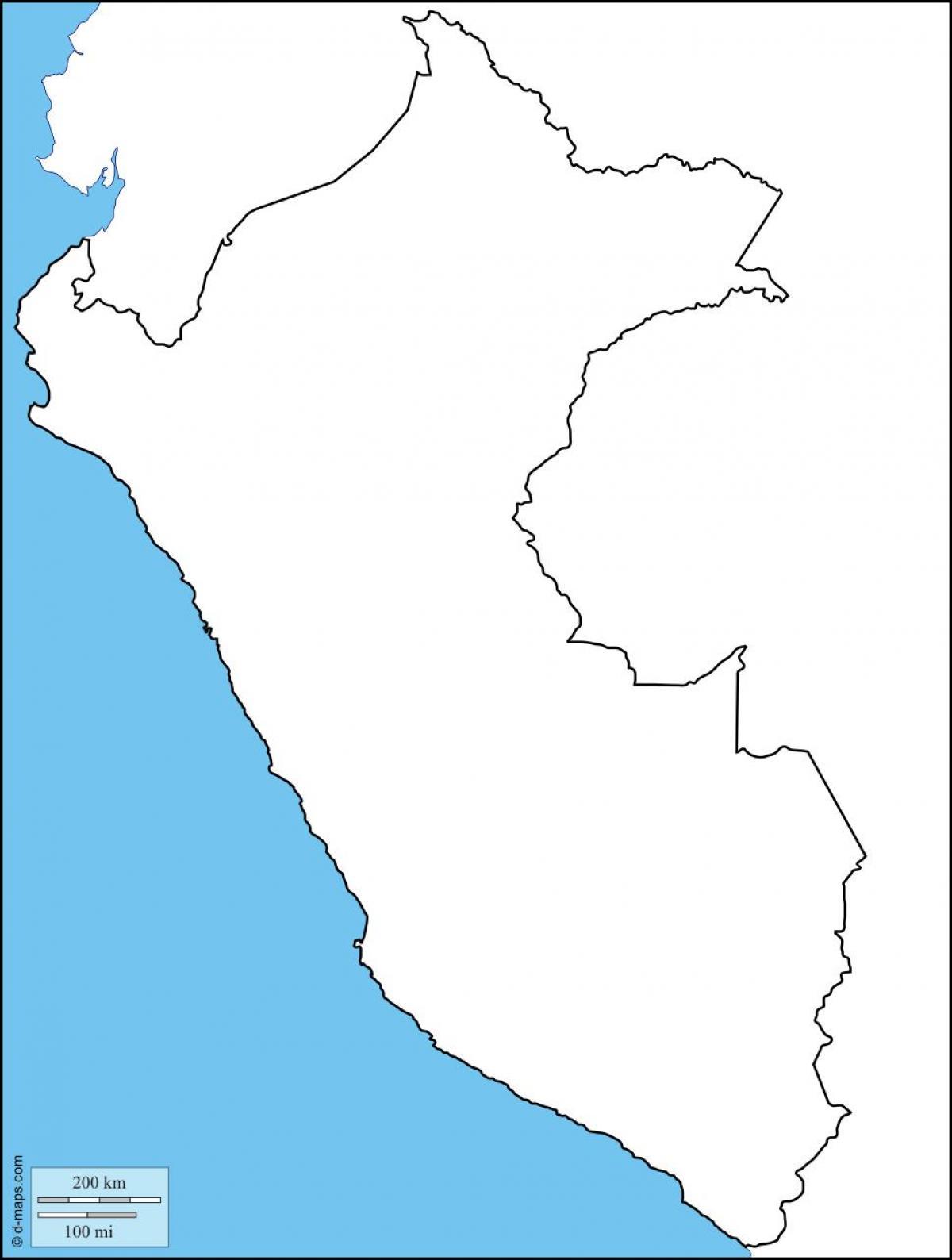 Peru Karte Umriss.Peru Karte Umriss Peru Leere Karte South America