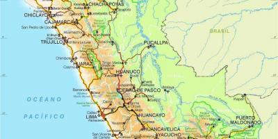 Peru Karte Umriss.Peru Map Karten Peru South America Sudamerika